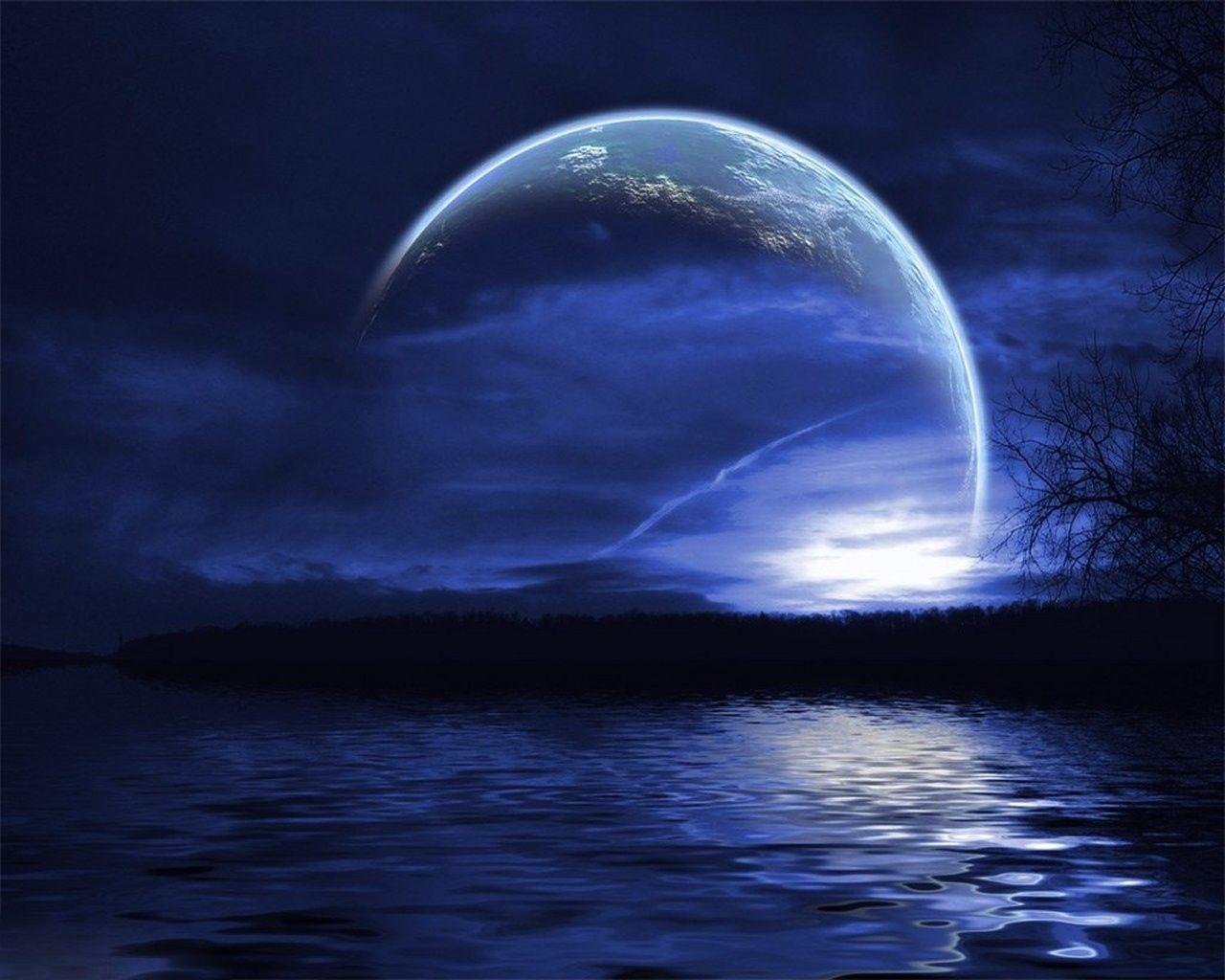Ocean Ocean Oceans Wallpaper 31507312 Fanpop Fanclubs Beautiful Moon Moon Blue Moon