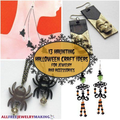 13 Haunting Halloween Craft Ideas for Jewelry and Accessories - halloween crafts ideas