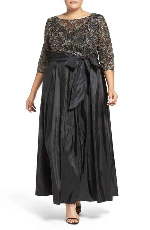 Alex Evenings Sequin Embroidered Gown Plus Size Mother Of The