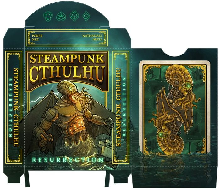 steampunk cthulhu | Steampunk Cthulhu Playing Cards: Play Go Fish with an Octopus