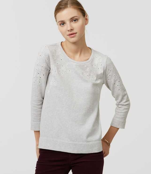 Thumbnail Image of Color Swatch 1528 Image of Ivy Embroidered Sweatshirt