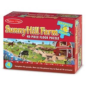 Melissa & Doug® Search & Find Sunny Hill Farm Floor Puzzle (48 pc) : Target
