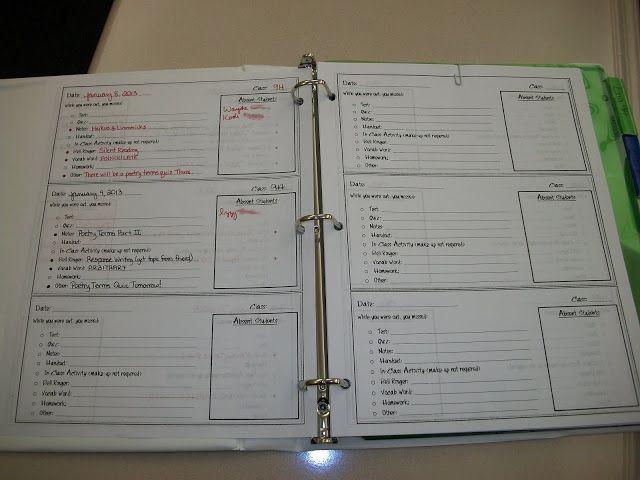 The Absent Binder | Absent students, Classroom procedures ...