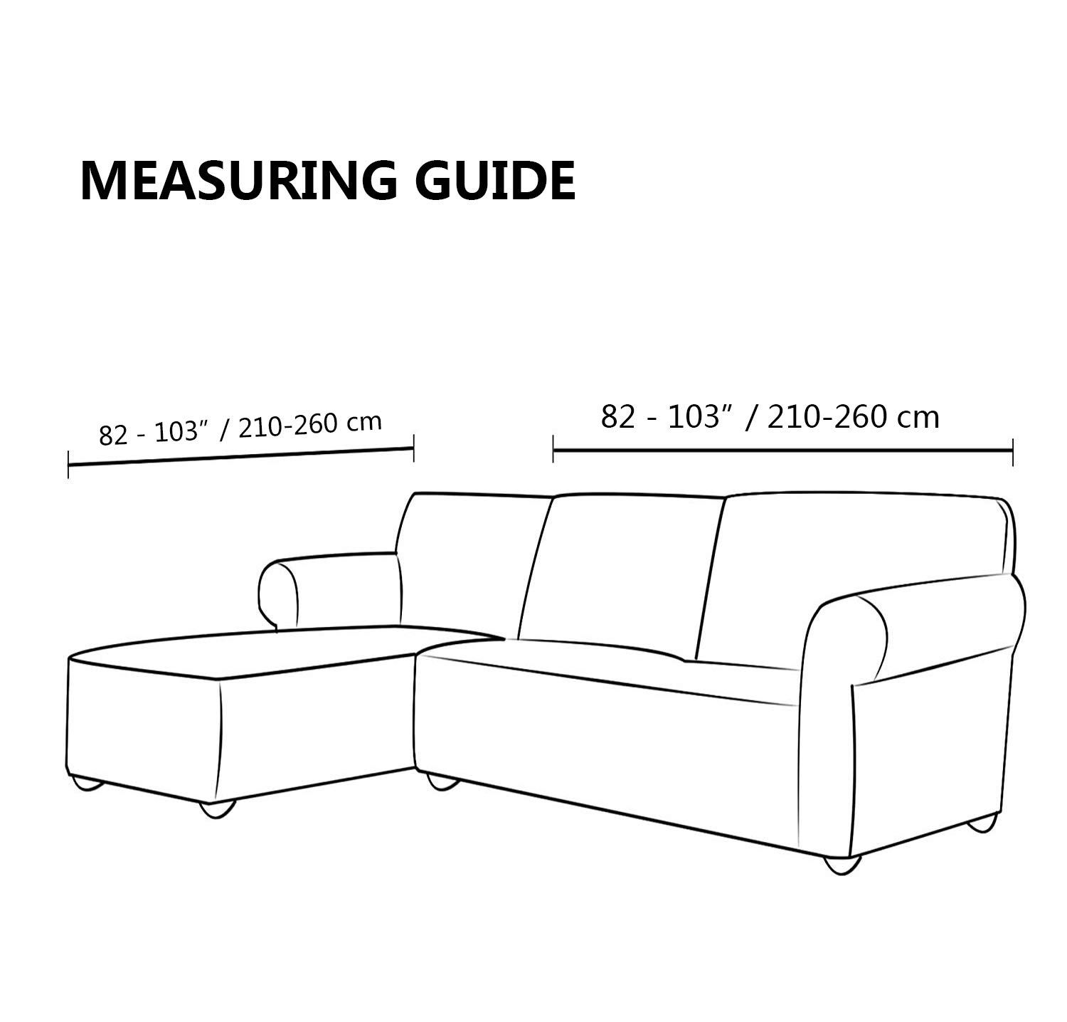 Womaco L Shape Sofa Covers Sectional Sofa Cover 2 Pcs Stretch Sofa Slipcovers For Lshape Couch Xxl Lshape Sofa Co In 2020 L Shaped Sofa Slipcovered Sofa L Shaped Couch