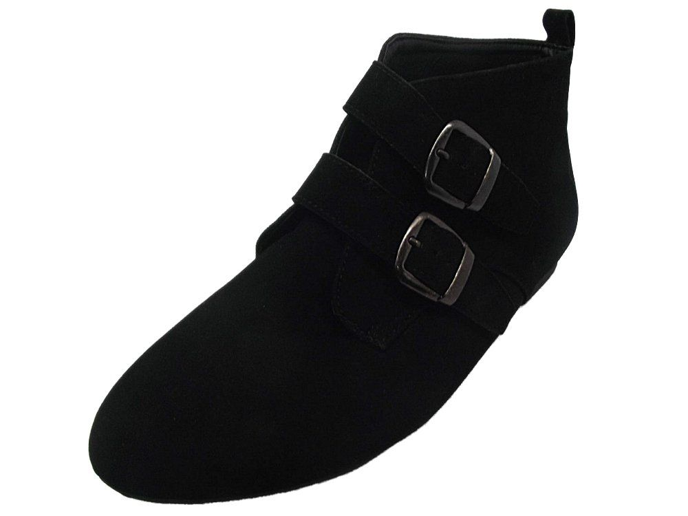 d2642f3118754 NEW LADIES GIRLS EX NEW LOOK BLACK FAUX SUEDE PIXIE ANKLE BOOTS UK 4 ...