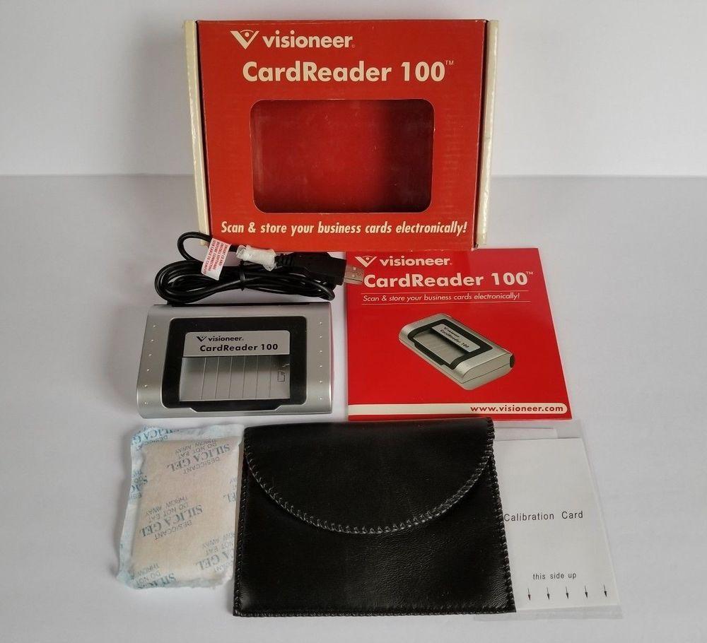 Visioneer Card Reader Cardreader 100 Usb Powered Business Card Scanner New Visioneer Business Card Scanner Card Reader Business Cards