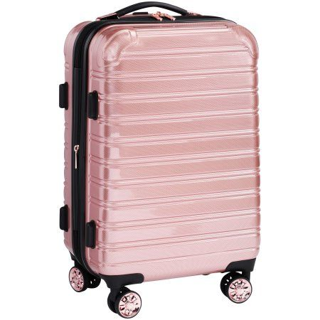 Ifly Hard Sided Luggage Fibertech 20 Inch Rose Gold