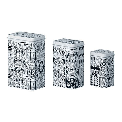 TRIPP Dose Mit Deckel 3er Set IKEA Für Kaffee, Tee Und Andere Lebensmittel  Geeignet