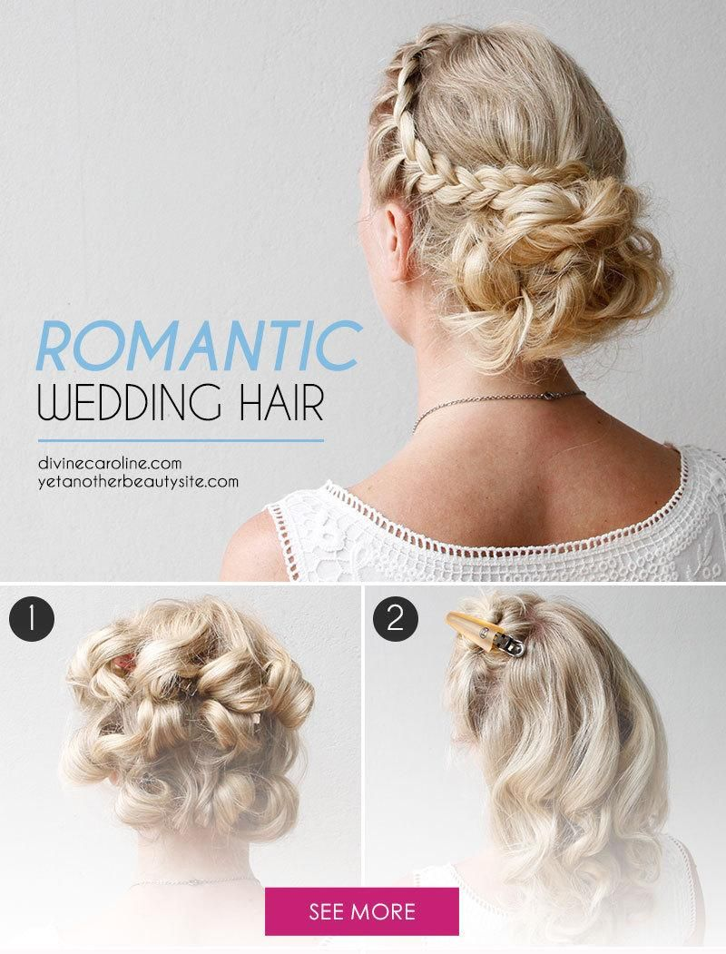 DIY Your Wedding Day Hairstyle with this Braided Updo | Romantic ...