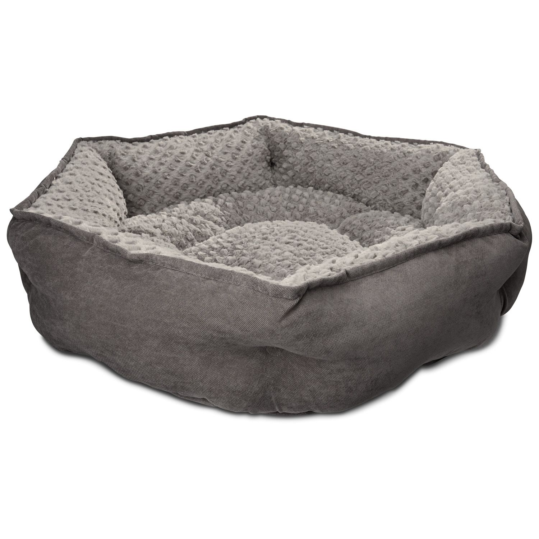 size: medium, petco memory foam hexagonal dog bed | monte's wish