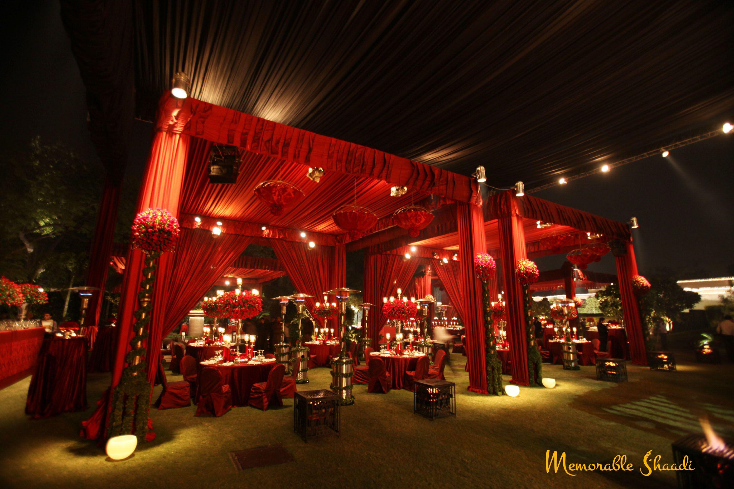 Royal red theme wedding decorations memorable shaadi wedding royal red theme wedding decorations junglespirit Gallery