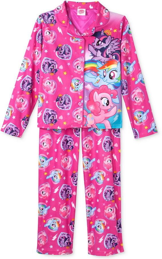 My Little Pony Girls' or Little Girls' 2-Piece Character Pajamas