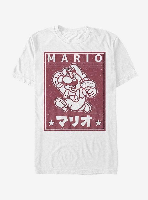 Nintendo Classic Mario and Mushroom T-Shirt #decadedayoutfits