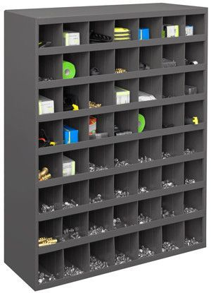 Model 361 95 12 Deep 56 Bin Cabinet Storage Rack Cube Shelving Unit Lockable Storage