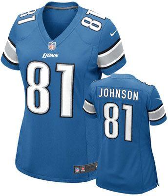Nike NFL Detroit Lions Calvin Johnson Replica Women's Jersey