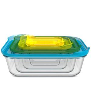 Joseph Joseph 8 Pc Nesting Glass Container Set Products Glass