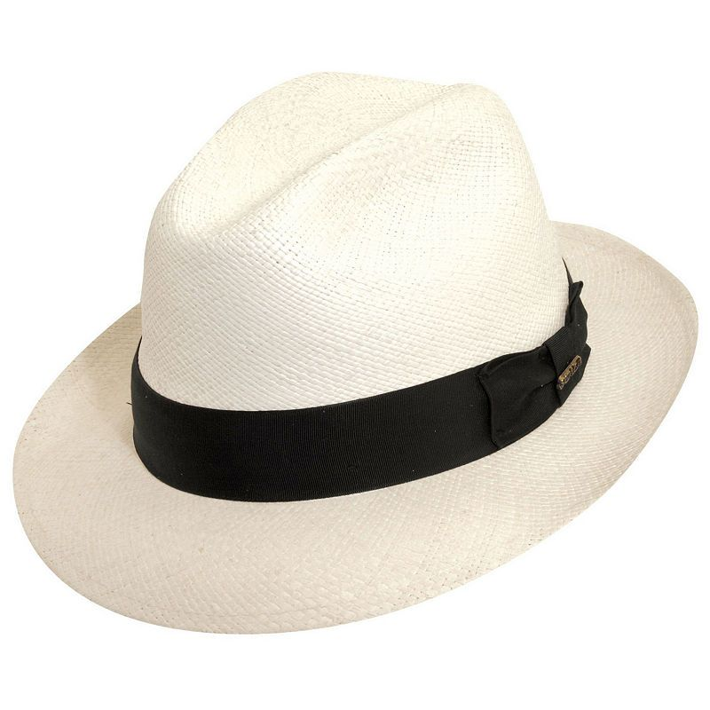 "New Fedora Panama Hat Bleach 2-1//4/"" Brim Same day Ship"