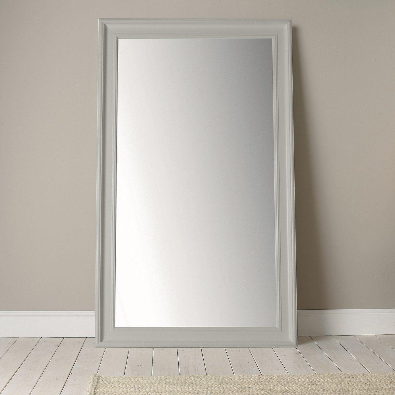 Portland Wide Full Length Mirror Grey