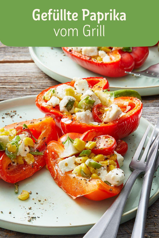 Die Füllung der Paprika kannst du ganz einfach nach deinem Geschmack variieren. Auch eine Kombi mit Thunfisch oder Salami-Stückchen schmeckt hervorragend.  #Alltagsheld #vegetarisch #Sommer #Mittagessen #Paprika #Hauptspeise #Grillen #Abendessen #Beilagen #LowCarb
