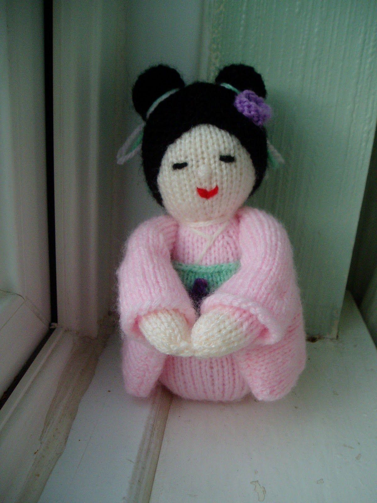 Kokeshi Doll Free Knitting Pattern | Knit | Pinterest | Kokeshi ...