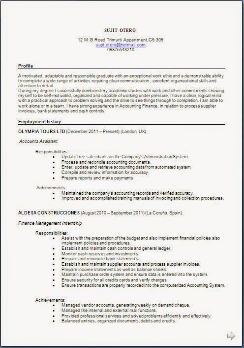 Download Free Cv Template Sample Template Example Ofexcellent