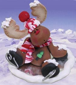 *CLAY ~ Ice Skating Reindeer Clay Craft