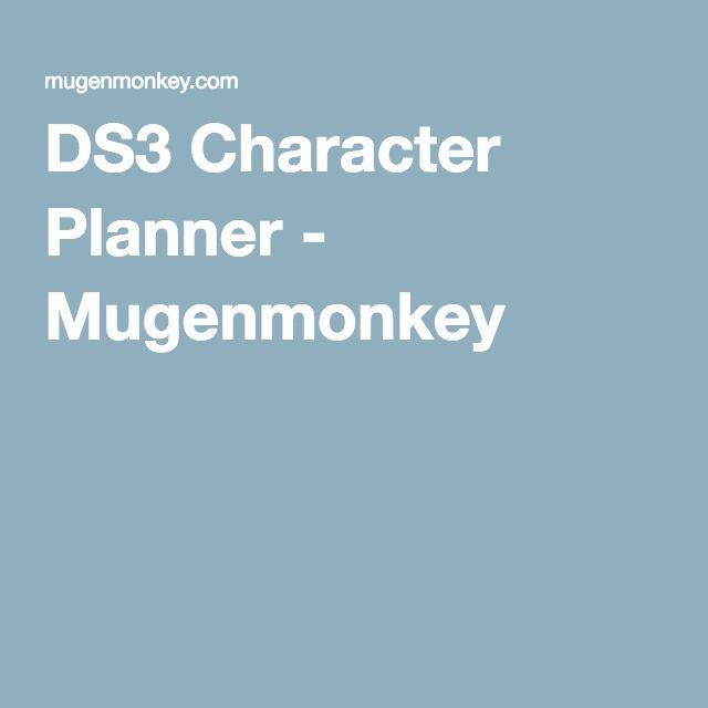 Mugenmonkey Game Guide Card Games Planner Mugenmonkey has long been a staple among soulsborne players as an indispensable way to plan and experiment with character building. pinterest