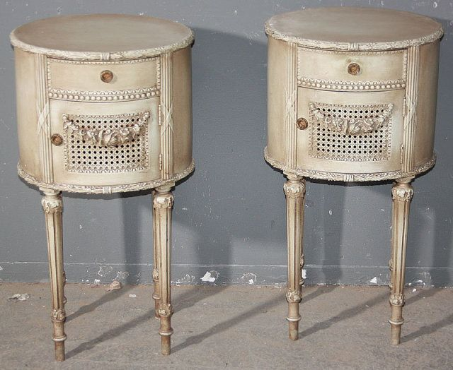 white antique night stand best pair french carved antique white night stands for sale. Black Bedroom Furniture Sets. Home Design Ideas