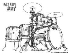 Pin By Mary Ellen Tillotson On Coloring Pages Drums Coloring
