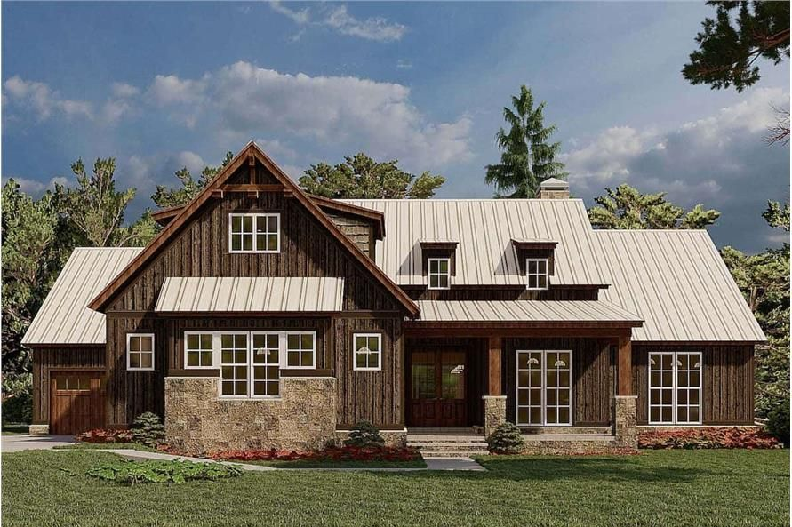 Rustic Ranch Home 4 Bedrms 2 5 Baths 2113 Sq Ft Plan 193 1184 In 2021 Farmhouse Style House Plans Farmhouse Style House House Plans Farmhouse