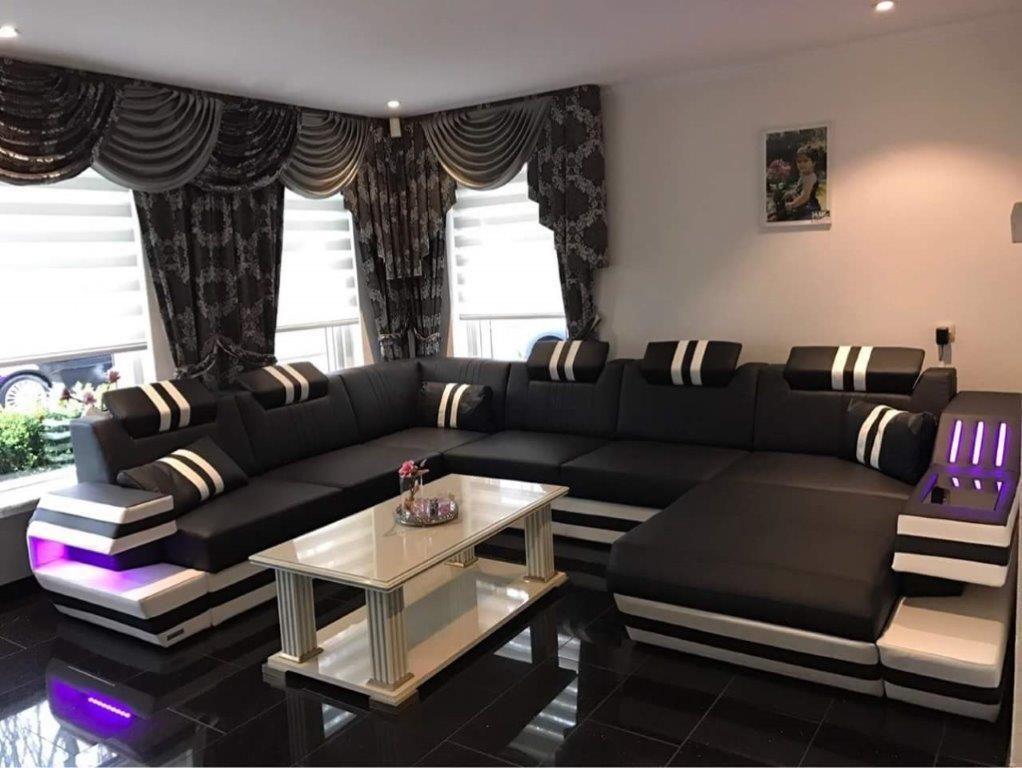 Leder Wohnlandschaft Ravenna Wohnen Wohnlandschaft Wohnzimmer Sofa
