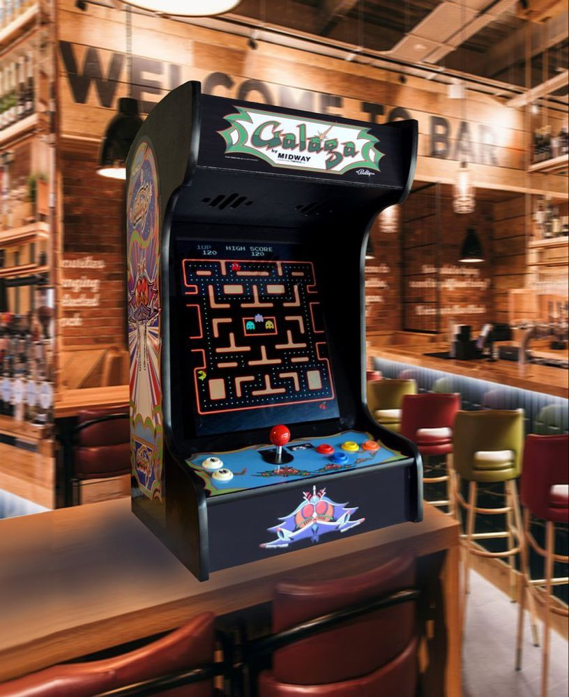 Ms PacMan Galaga Home Arcade Machine With 60/412 Games