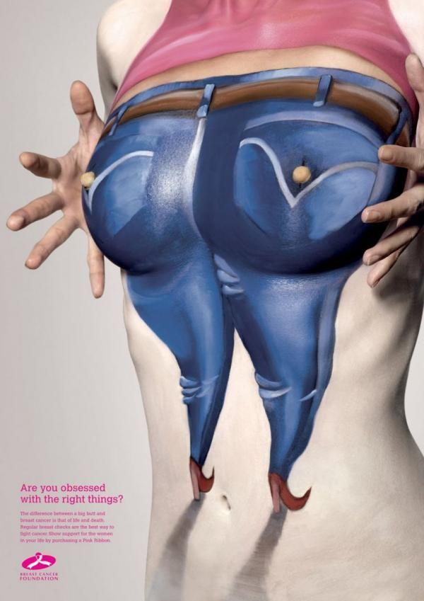 Breast Cancer Foundation: Bottom, Breast Cancer Foundation, DDB Singapore, Breast Cancer Foundation, Impresos, Al aire libre, Publicidad