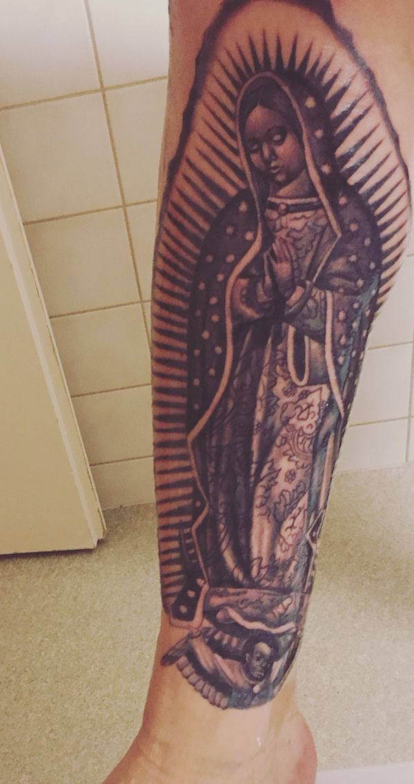 Our Lady Of Guadalupe Tattoo Mexico Black Grey Tattoos