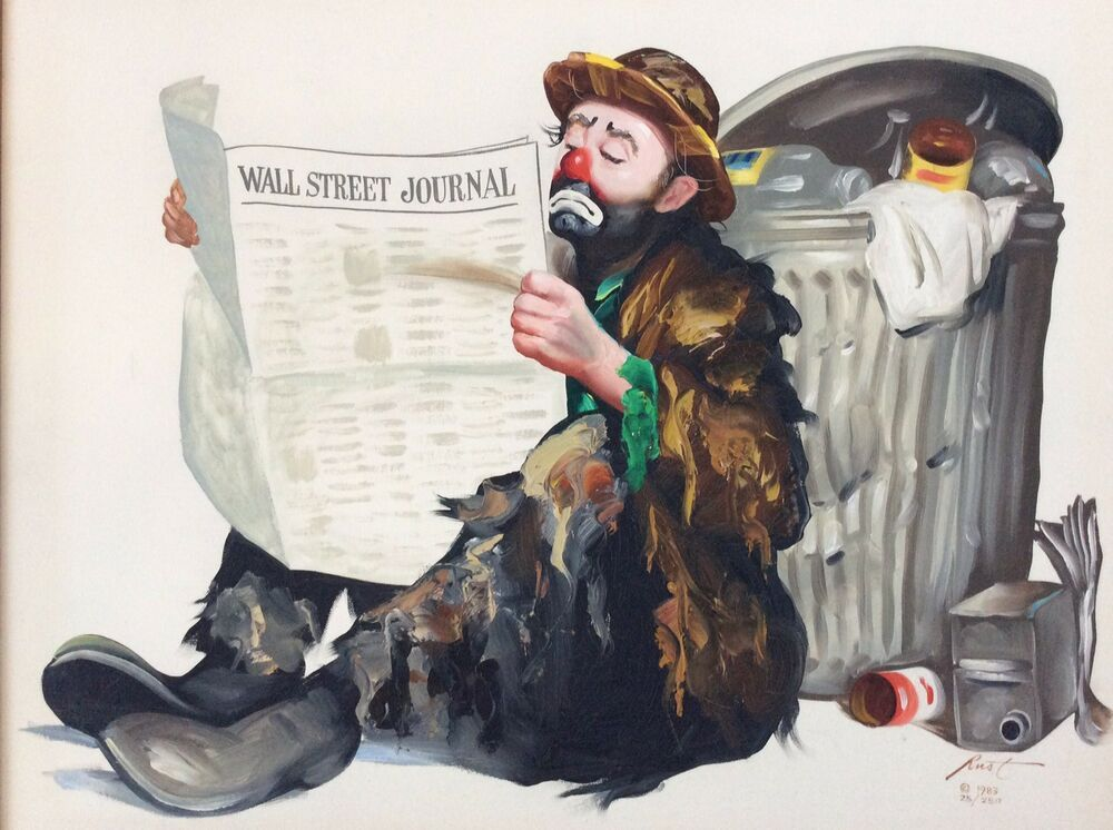 details about donald rusty rust original oil painting on wall street journal login id=49488
