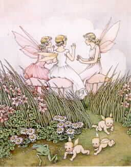 ≍ Nature's Fairy Nymphs ≍ magical elves, sprites, pixies and winged woodland faeries - Mothers Were Chatting, Ida R.Outhwaite
