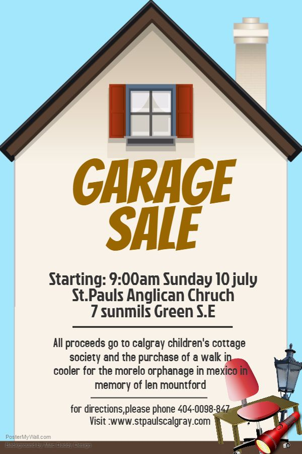 Garage Sale Poster. Click on the image to customize on PosterMyWall ...