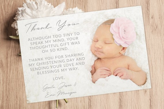 Baptism Card Christening Card Baptism Thank You Card Baby Thank You Card Christening Thank You Card Baptism Thank You In 2021 Baby Thank You Cards Baptism Thank You Cards Christening Thank