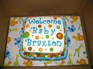 Welcome Baby Boy Shower Cake