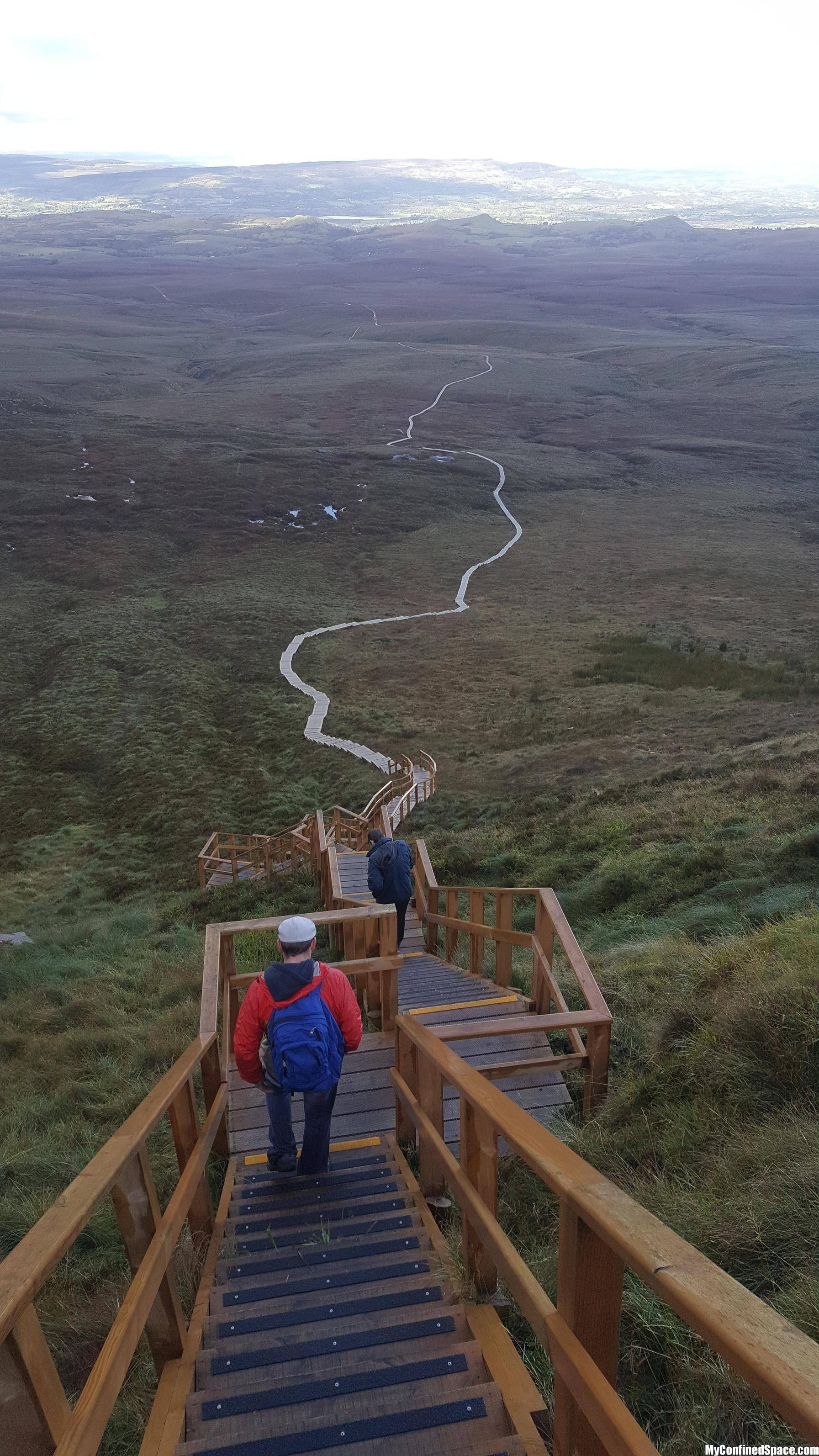 Stairway to heaven. Culcaigh Mountain, Fermanagh, N ...