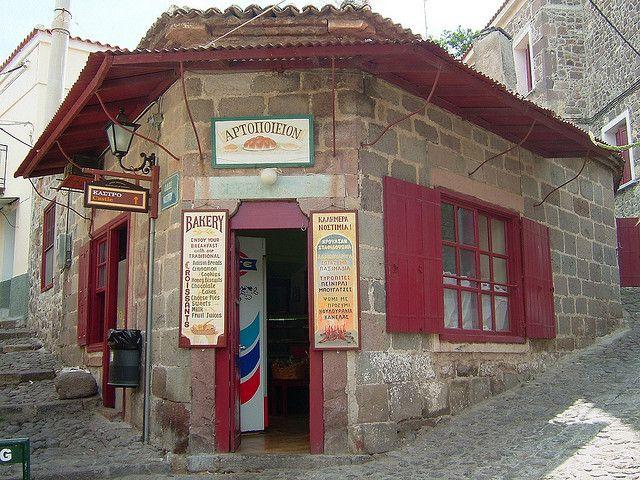 Αρτοποιείον/Bakery in molivos on the island of Lesvos by suxumuxu, via Flickr