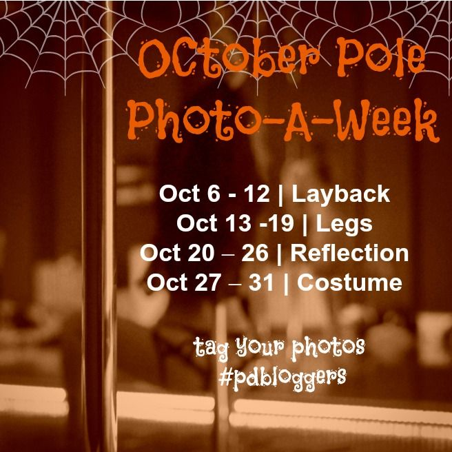 Happy October everyone. It is time for our October Pole Photo Challenge, a weekly photography prompt series to spotlight the pole lifestyle. We want you to take the time to document your pole life from the big tricks to the little things too. What better way to do that than through a challenge that encourages you to take pictures and share them with your community? #pdbloggers #poledance