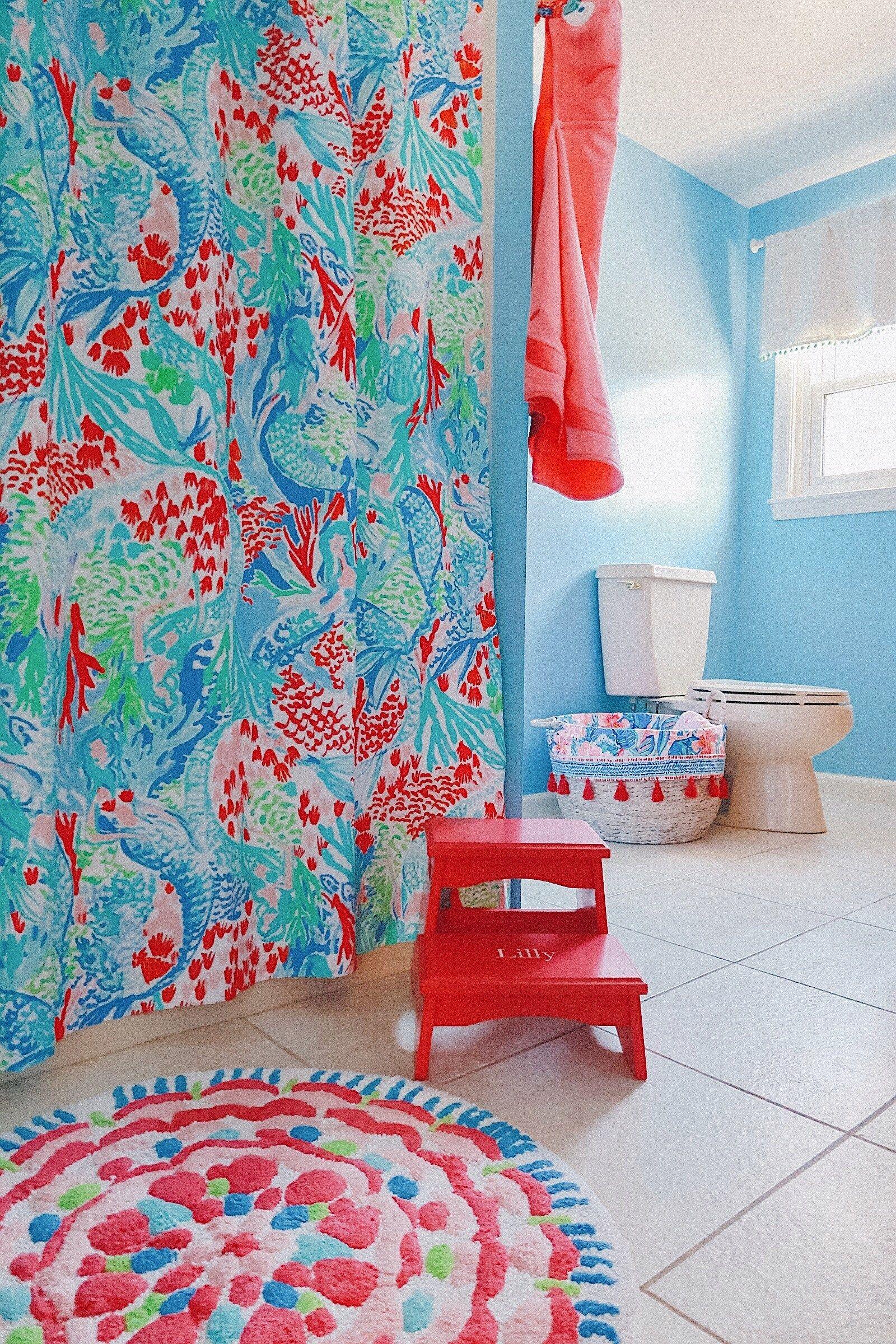 lilly pulitzer bathroom decor