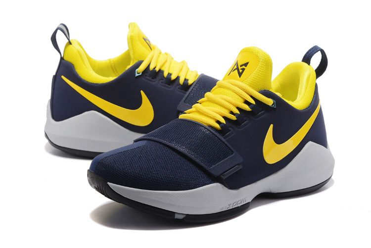 quality design b0d28 3c948 Latest and Cheapest Nike PG 1 Indiana Pacers Paul George Navy Bright Yellow Nike  Shoes For