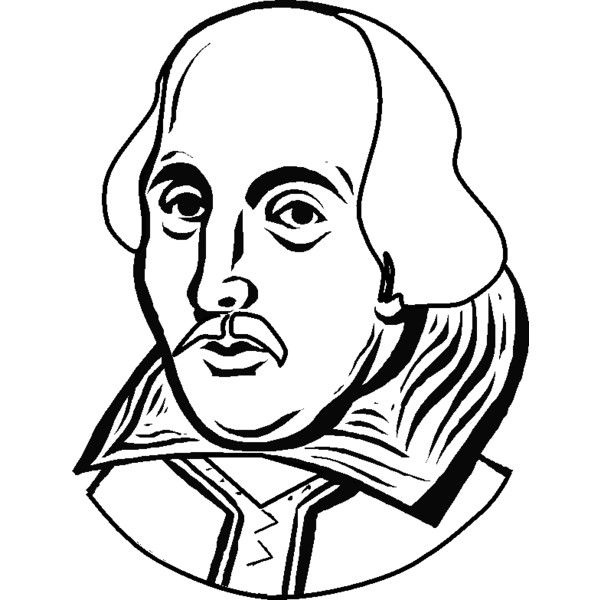 Coloring portrait of William Shakespeare picture