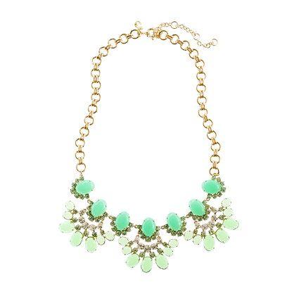 Cabochon fan necklace