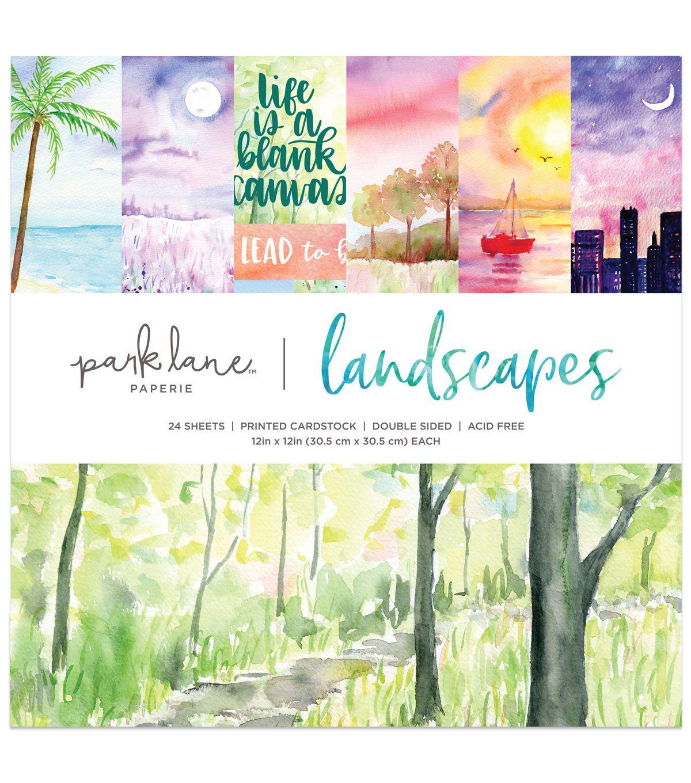 Park Lane 12 X12 Paper Pad Watercolor Landscapes Watercolor