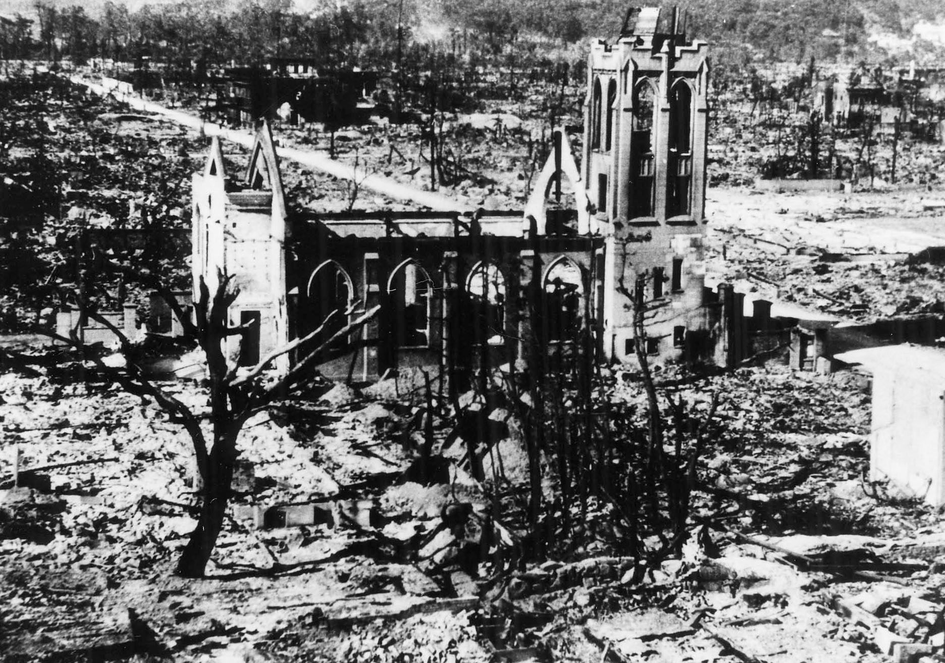 Nagarekawa Methodist Church Hiroshima The World War Ii August 6