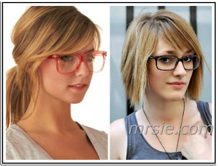 Hairstyle Ideas Long Side Swept Bangs With Glasses Long