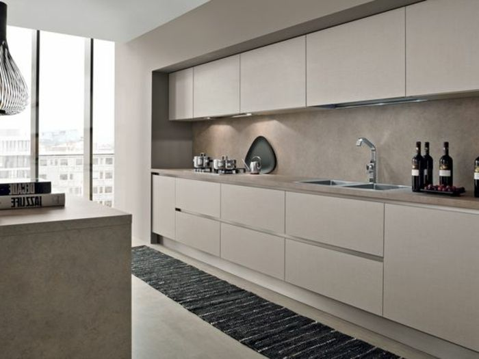 ▷ 1001+ ideas de decorar vuestra cocina blanca y gris | Kitchens